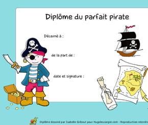 Diplôme du parfait pirate