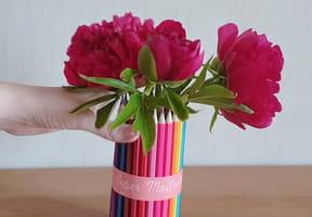 Un vase crayons, cadeau de fin d'année [VIDEO]