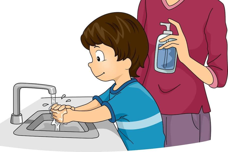 Je me lave les mains chansons pour enfants sur - Dessin main enfant ...