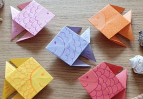 Poisson en origami, pliage papier [VIDEO]