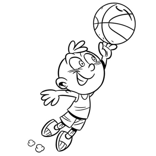 Dessin Activité enfant le Basket a colorier