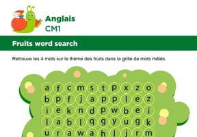 Apprendre des mots en Anglais, les fruits série 3