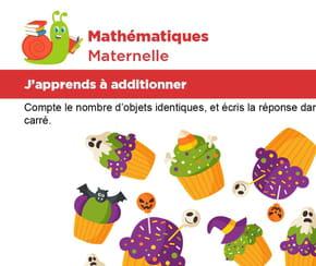 Apprendre à additionner les cupcakes d'Halloween