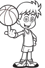 Coloriage Joueur de basket-ball