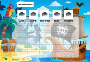 Planning enfant: le bateau pirate