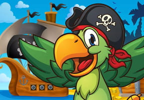 Coloriage perroquet de pirate