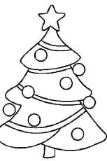 Coloriage sapin de Noël en Ligne Gratuit à imprimer