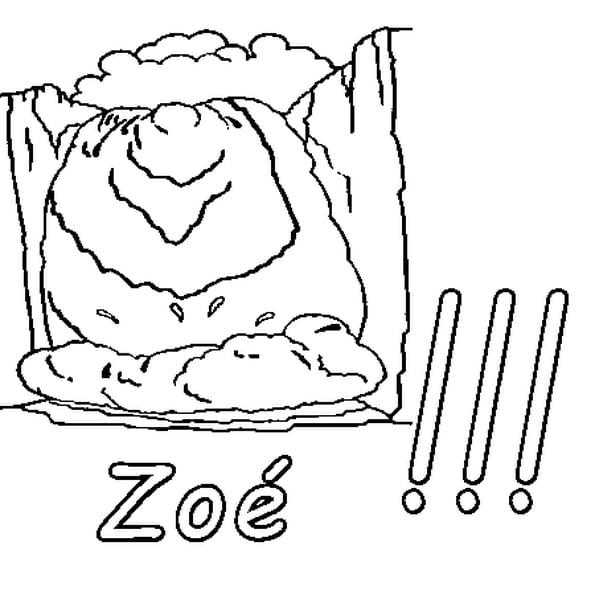 Dessin Zoé a colorier