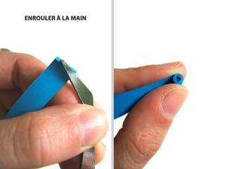 La technique, enrouler les bandelettes à la main