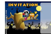 Carte invitation anniversaire Halloween