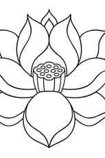 Coloriage Fleur de lotus zen