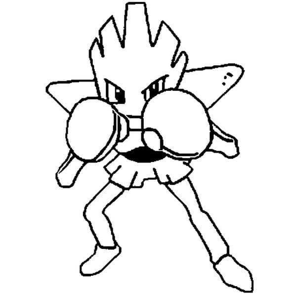 Coloriage pok mon tygnon en ligne gratuit imprimer - Pokemon coloriage en ligne ...