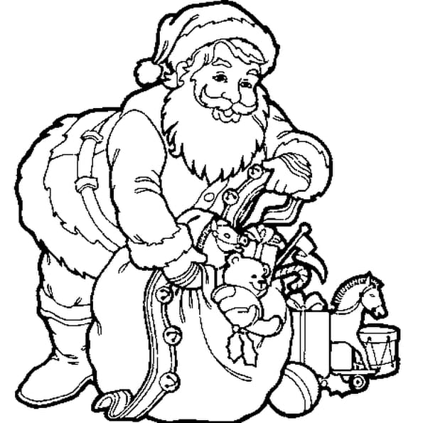 Hotte du p re no l coloriage hotte du p re no l en ligne gratuit a imprimer sur coloriage tv - Image pere noel a colorier ...
