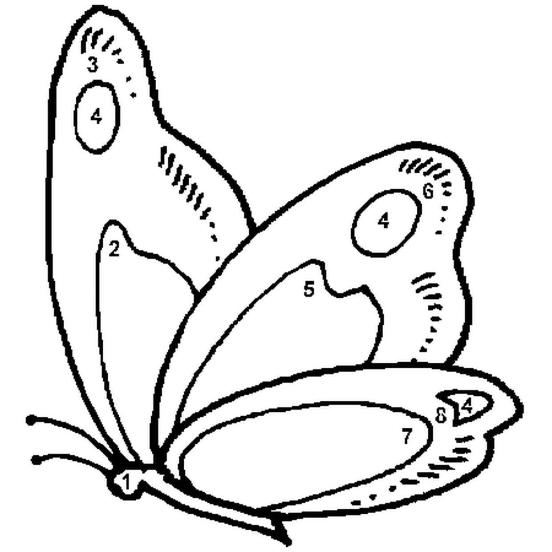Coloriage Magique Facile Papillon En Ligne Gratuit A Imprimer