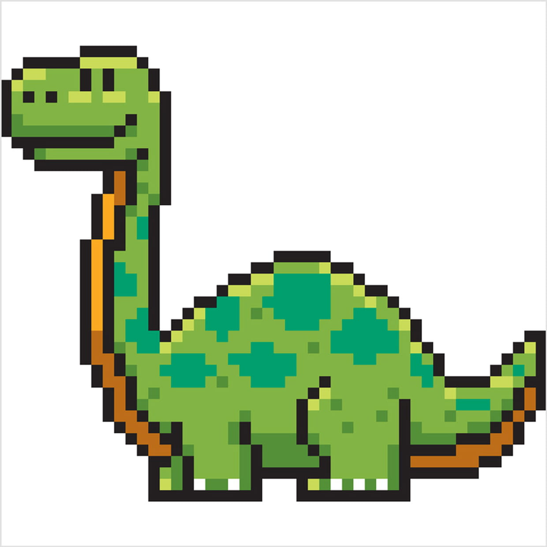 Diplodocus Dinosaure En Pixel Art