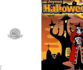 Carte joyeux Halloween homme sans tête