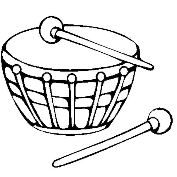 Coloriage tambour en Ligne Gratuit à imprimer