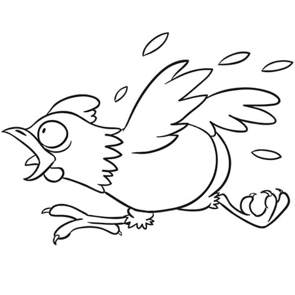 Coloriage La poule qui se sauve en Ligne Gratuit à imprimer