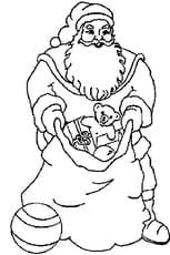 Coloriage dessin du Père Noël