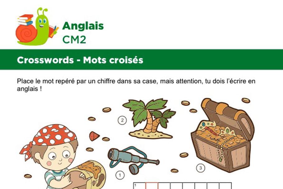 Mots croisés en Anglais sur le thème des pirates