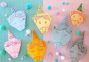Origami licorne