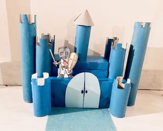Votre château fort en rouleau de papier toilette est terminé!