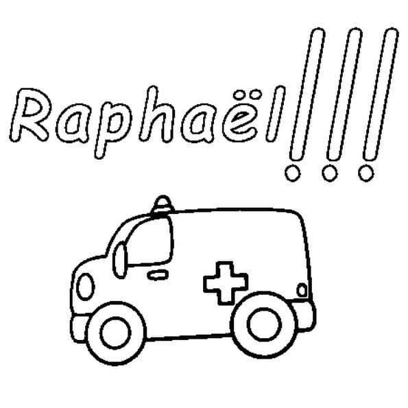 Dessin Raphaël a colorier