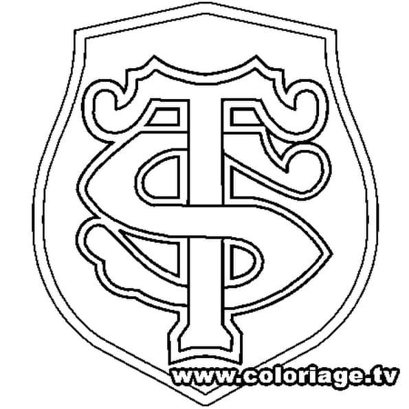 Coloriage stade toulousain en ligne gratuit imprimer - Coloriage ecusson ...