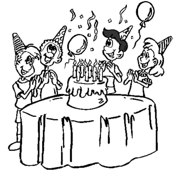 De 8 ans coloriage de 8 ans en ligne gratuit a imprimer - Joyeux anniversaire a colorier ...