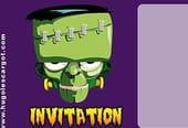 Carte invitation Halloween Frankenstein