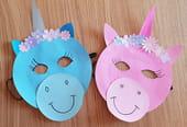 Masque de licorne pour Carnaval