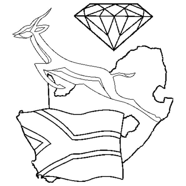 afrique du sud coloriage