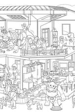 Coloriage Cache-Cache Playmobil maison