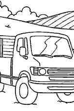 Coloriage camion en Ligne Gratuit à imprimer
