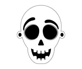 Masque squelettique pour Halloween