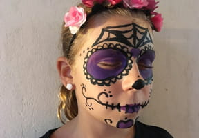 Maquillage tête-de-mort Mexicaine Halloween [VIDEO]