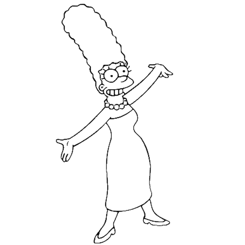 Coloriage Marge Simpson En Ligne Gratuit A Imprimer