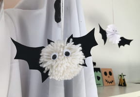 Chauve-souris pompon Halloween [VIDEO]