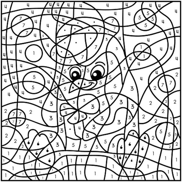 Coloriage Magique pingouin en Ligne Gratuit à imprimer