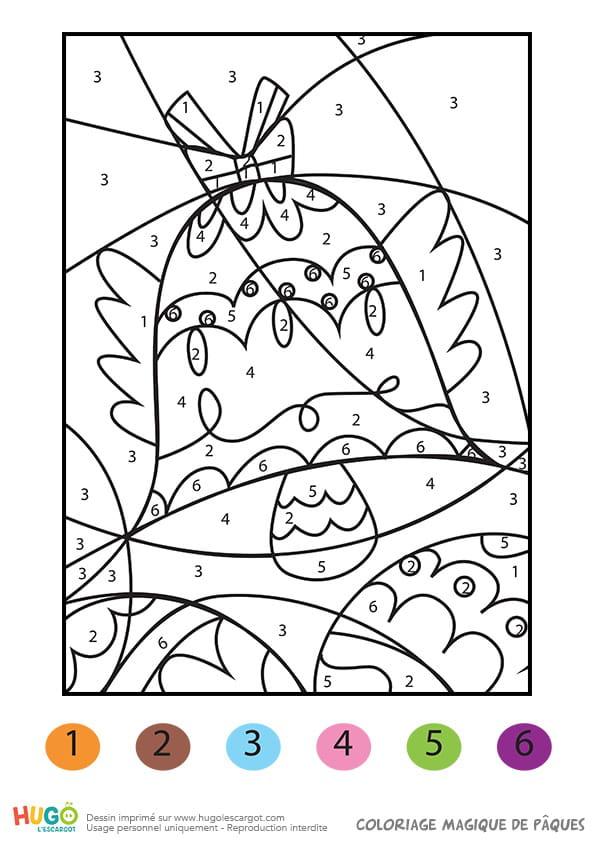 Coloriage Magique Cloches De Paques