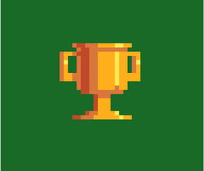 Coupe de football en pixel art
