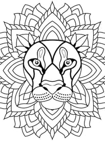 Coloriage Difficile Gs.Coloriage Mandala Animaux Sur Hugolescargot Com