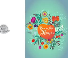 Carte fleurs du printemps fête des Mères