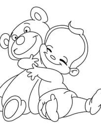 Ours en peluche et bébé