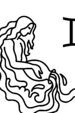 Coloriage Signe du Verseau en Ligne Gratuit à imprimer