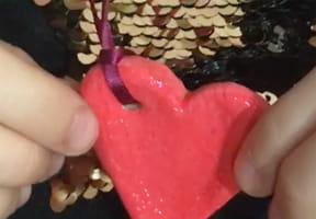 Collier cœur en pâte à sel