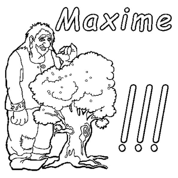Dessin Maxime a colorier