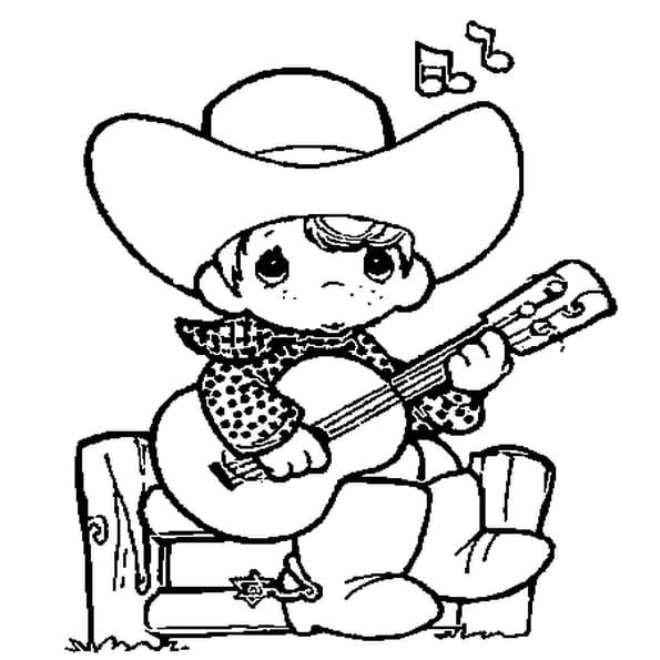 Dessin Guitariste a colorier