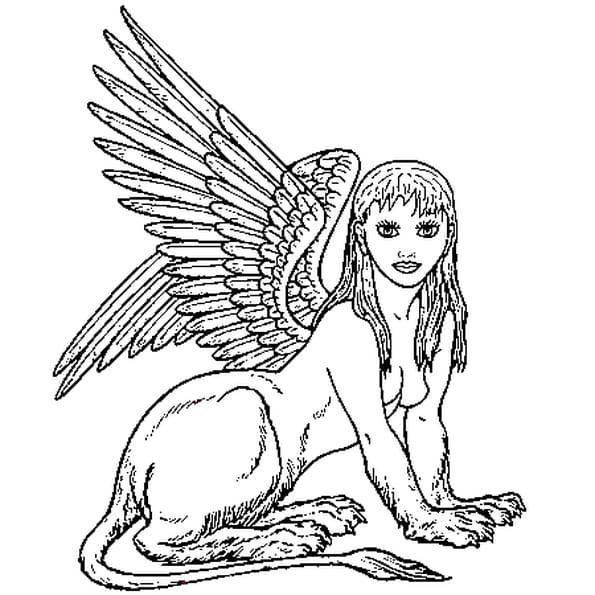 Dessin Sphinx a colorier