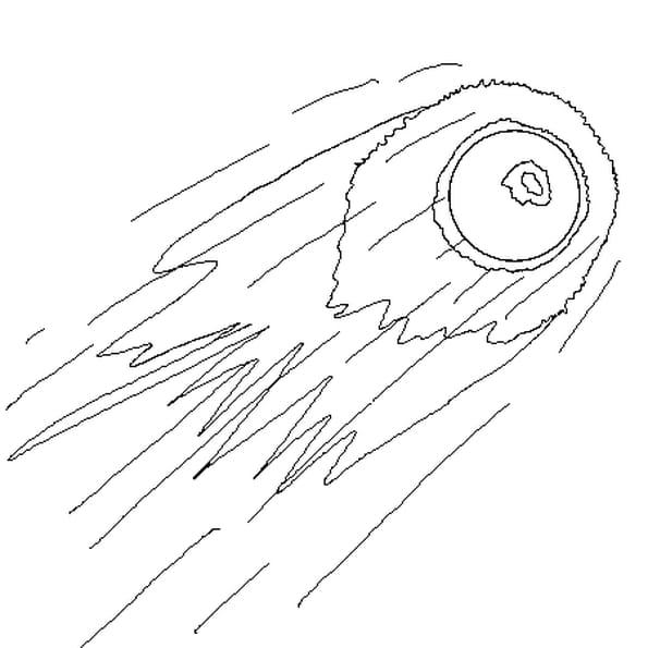 Coloriage Comète en Ligne Gratuit à imprimer